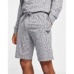 Emporio Armani - Bodywear - Short en tissu éponge avec logo sur l'ensemble - Emporio Armani Bodywear - Modalova