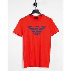 T-shirt à logo aigle sur le devant - Emporio Armani - Modalova