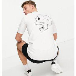 Exclusivité ASOS - - T-shirt oversize en coton biologique mélangé avec imprimé crâne au dos - Selected Homme - Modalova