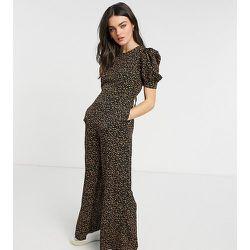 Combinaison large à col montant et imprimé à pois style losanges - Fashion Union - Modalova