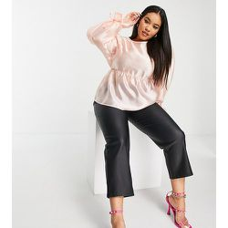 Blouse babydoll avec manches nouées en organza - Fashion Union Plus - Modalova