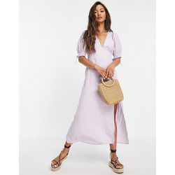 Robe mi-longue - Vichy lilas - Fashion Union - Modalova