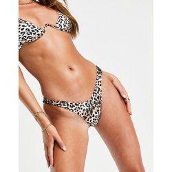 Mix and Match - Bas de bikini échancré à imprimé animal - Free Society - Modalova