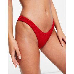 Mix and Match - Bas de bikini échancré texturé - Free Society - Modalova