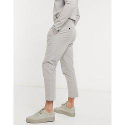 Pantalon court plissé en crépon de coton - Gianni Feraud - Modalova