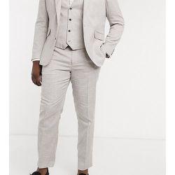 Plus - Pantalon de costume slim imprimé pied-de-poule - Gianni Feraud - Modalova