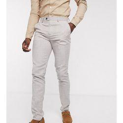 Tall - Pantalon de costume coupe slim motif pied-de-poule - Gianni Feraud - Modalova