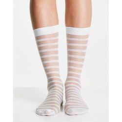 Socquettes à rayures transparentes - Menthe clair - gipsy - Modalova