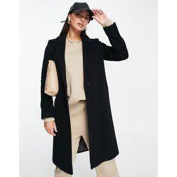 Manteau ajusté style universitaire en laine mélangée - Helene Berman - Modalova