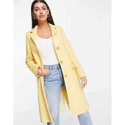 Manteau coupe classique style universitaire en laine mélangée - Helene Berman - Modalova