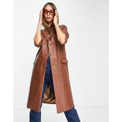 Manteau universitaire en similicuir style années90 - Helene Berman - Modalova