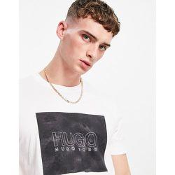 Dolive_U214 - T-shirt avec encadré imprimé effet serpent - HUGO - Modalova