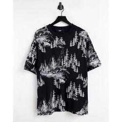 T-shirt oversize à imprimé forêt - Jaded London - Modalova