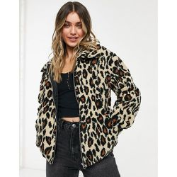 Veste duveteuse à imprimé léopard - JDY - Modalova