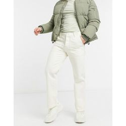 Pantalon chino en coton biologique - Crème - Knowledge Cotton Apparel - Modalova