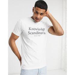 T-shirt en coton biologique à imprimé logo - Knowledge Cotton Apparel - Modalova