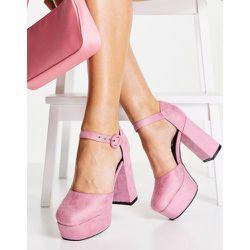 Chaussures à talon et semelle plateforme avec bride cheville - pâle - Lamoda - Modalova