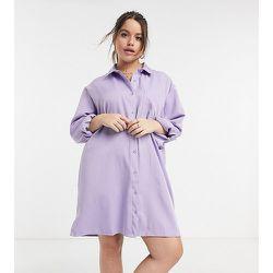 Robe chemise - Lilas - Lola May Curve - Modalova
