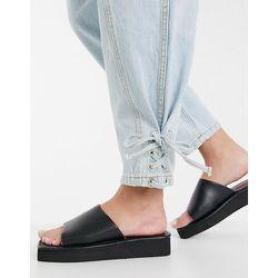 Sandales à petite plateforme style années90 avec bout carré - London Rebel - Modalova