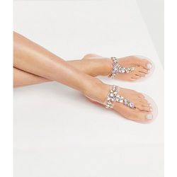 Sandales en plastique souple avec ornements - Beige - London Rebel - Modalova