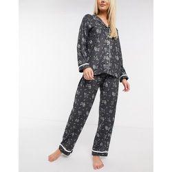Ensemble de pyjama traditionnel ultra doux à petit motif chien - Loungeable - Modalova