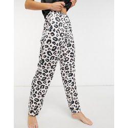 Pantalon de pyjama en satin imprimé léopard - Loungeable - Modalova