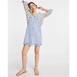 Robe chasuble en jean - clair - Mango - Modalova