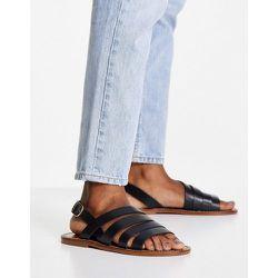 Sandales à lanières en cuir véritable - Mango - Modalova