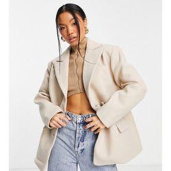 Manteau style blazer coupe boyfriend - Camel - Missguided Petite - Modalova