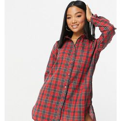 Robe chemise à carreaux - Missguided Petite - Modalova