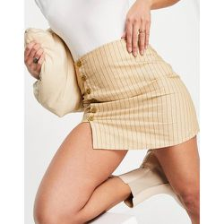 Mini-jupe trapèze rayée et boutonnée - Motel - Modalova