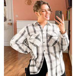 New Look Curve - Chemise à carreaux - Noir - New Look Plus - Modalova