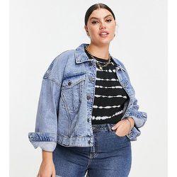 Veste en jean à épaules tombantes - clair - Noisy May Curve - Modalova