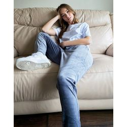 Pantalon de jogging coupe slim d'ensemble en velours - Gris - Noisy May - Modalova