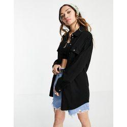 Veste chemise oversize en jean - Noir - Noisy May - Modalova