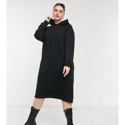Noisy MayCurve- Robe à capuche mi-longue zippée sur les côtés - Noisy May Curve - Modalova