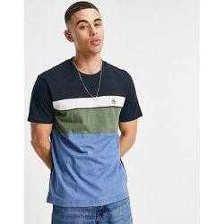 T-shirt effet color block à logo emblématique - Bleu - Original Penguin - Modalova