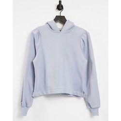 Hoodie à épaules plissées - Bleu pâle - Pieces - Modalova