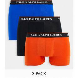 Lot de 3 boxers avec ceinture à inscription logo - Noir/orange/bleu - Polo Ralph Lauren - Modalova