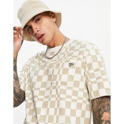 Downtown - T-shirt à carreaux - Kaki et cassé - Puma - Modalova