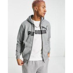 Essentials - Hoodie zippé à grand logo - Puma - Modalova