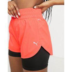 Running Favourite - Short 3pouces 2-en-1 - Orange et noir - Puma - Modalova