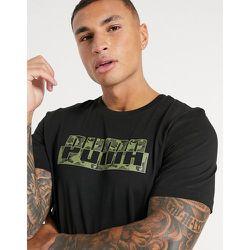 T-shirt à grand logo motif camouflage - Puma - Modalova