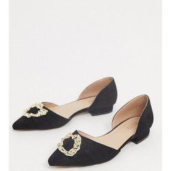 RAID - Andi - Chaussures plates en deux parties à fintions dorées pointure large - Raid Wide Fit - Modalova