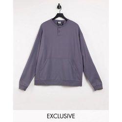 Inspired - Sweat-shirt avec boutons - Anthracite - Reclaimed Vintage - Modalova