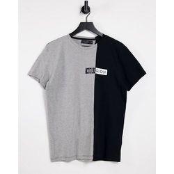 T-shirt divisé effet color block - et noir - Religion - Modalova