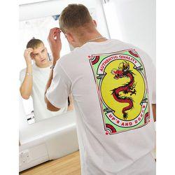 T-shirt oversize en coton biologique avec imprimé dragon au dos - Selected Homme - Modalova