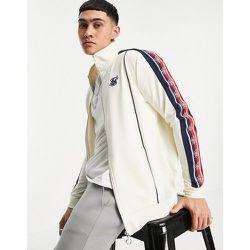 Veste zippée style rétro à col cheminée et bandes latérales - SikSilk - Modalova