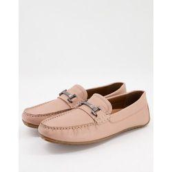 Chaussures de conduite en cuir avec détails métalliques - Rose - Silver Street - Modalova