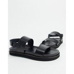 Sandales deux parties chunky en cuir de qualité supérieure - Silver Street - Modalova